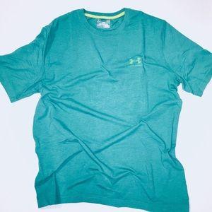 Shirt   Under Armour Green Heat Gear T-shirt
